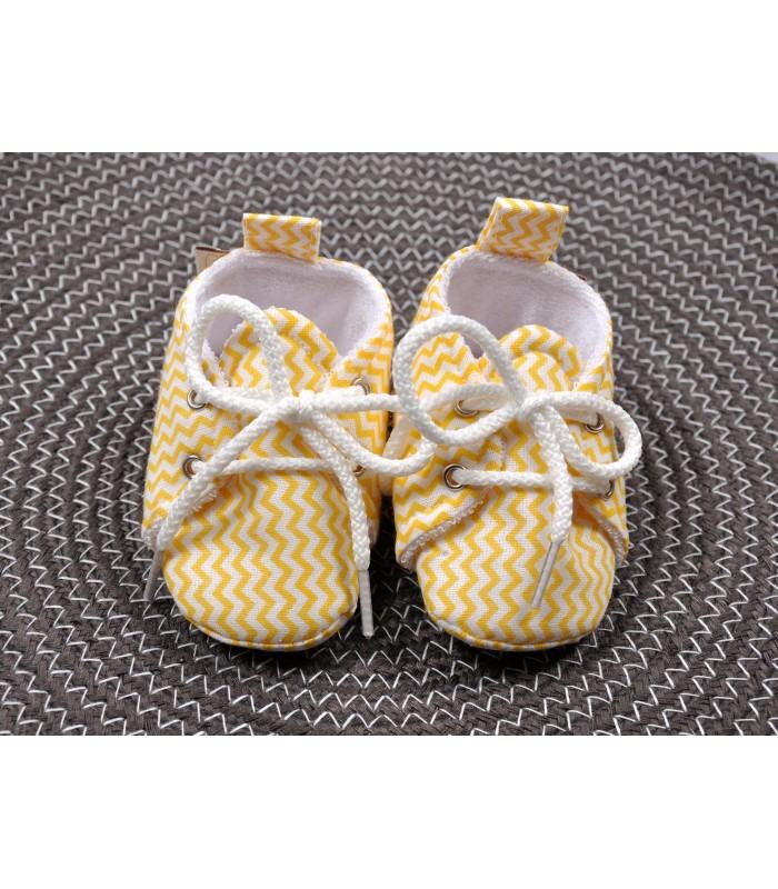 Пинетки хлопковые желтый зигзаг