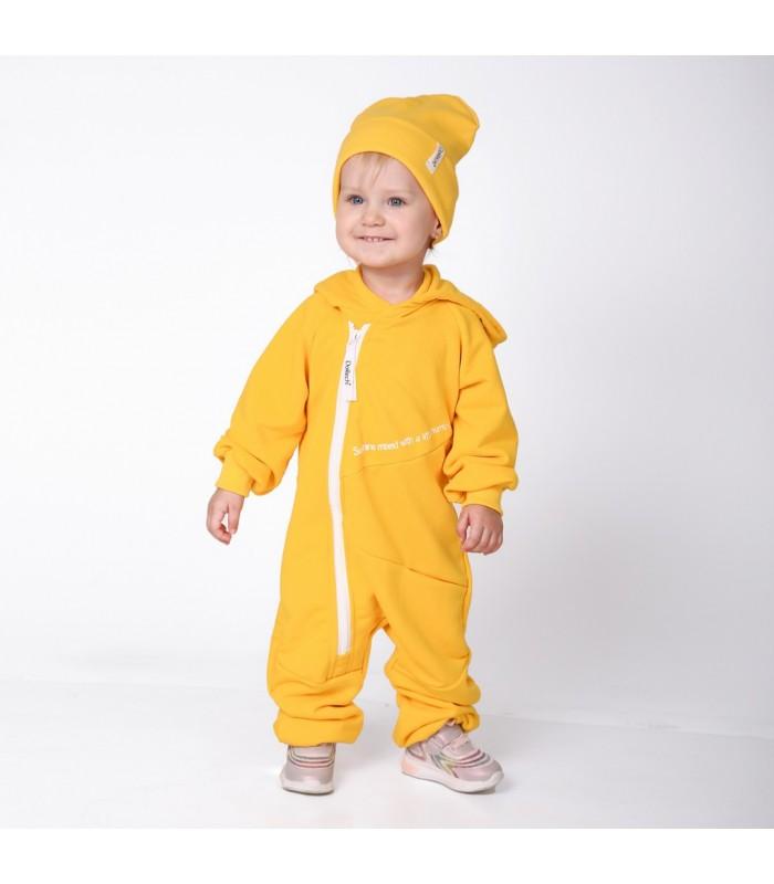 Комплект ромпер желтый с шапочкой