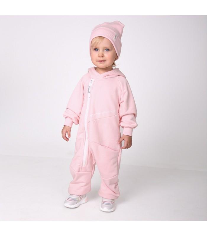 Комплект ромпер розовый с шапочкой