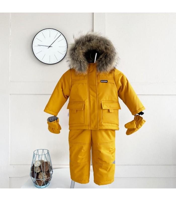 Зимний термокомбинезон альпинист горчичный