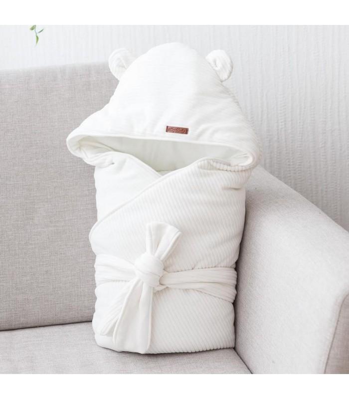 Велюровый конверт одеяло вельвет молоко