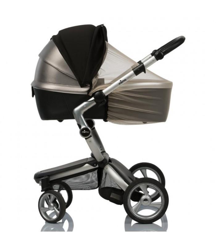 Двойной солнцезащитный козырек на коляску с бежевой москиткой
