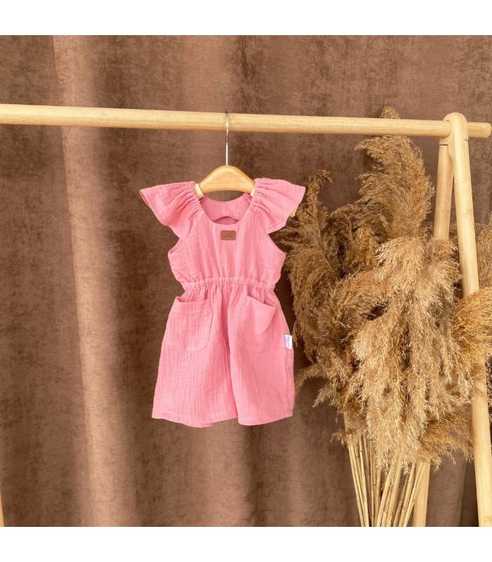 Комплект летний муслин цвет розовый