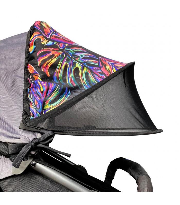 Двойной солнцезащитный козырек на коляску тропические листья