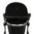 Двойной солнцезащитный козырек на коляску черный