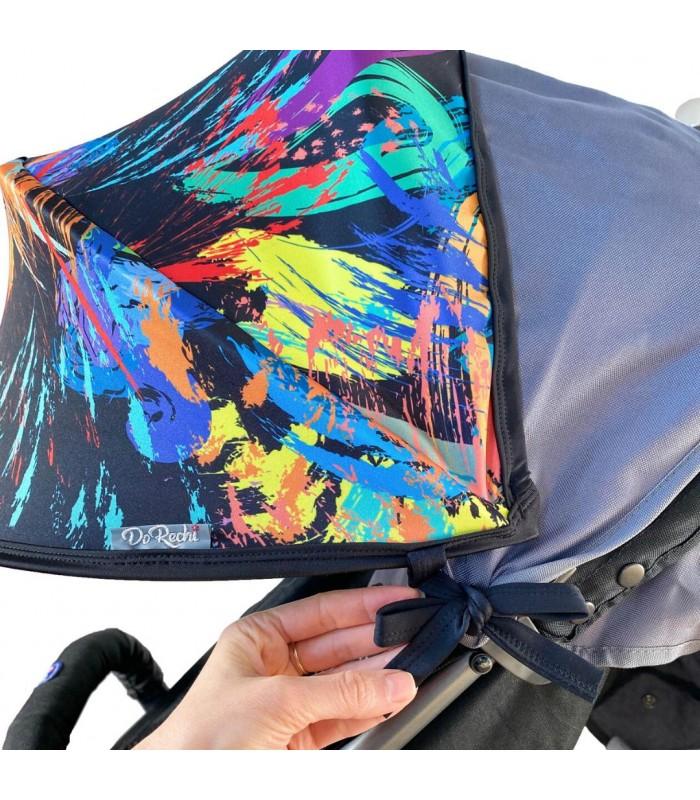 Двойной солнцезащитный козырек на коляску краски (две секции)