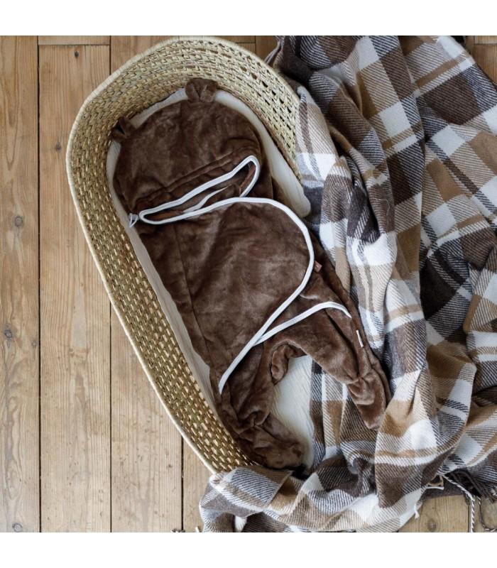 Махровый спальник цвет коричневый