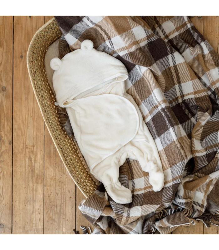 Махровый спальник цвет молоко
