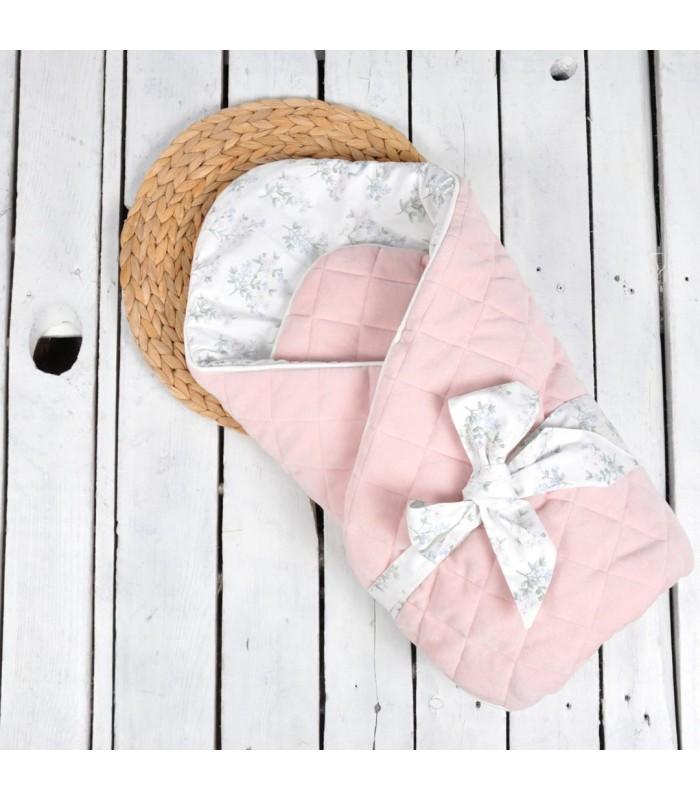 Конверт велюровый розовый