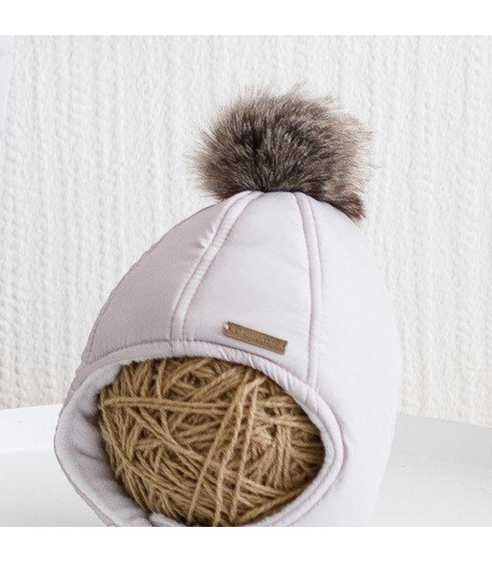 Зимняя шапочка серая