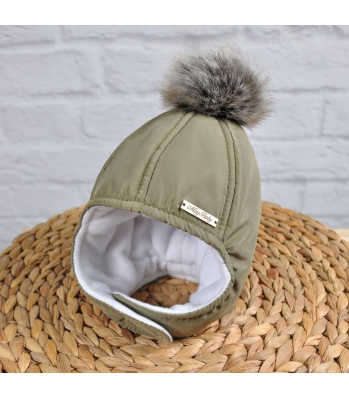 Зимняя шапочка хаки