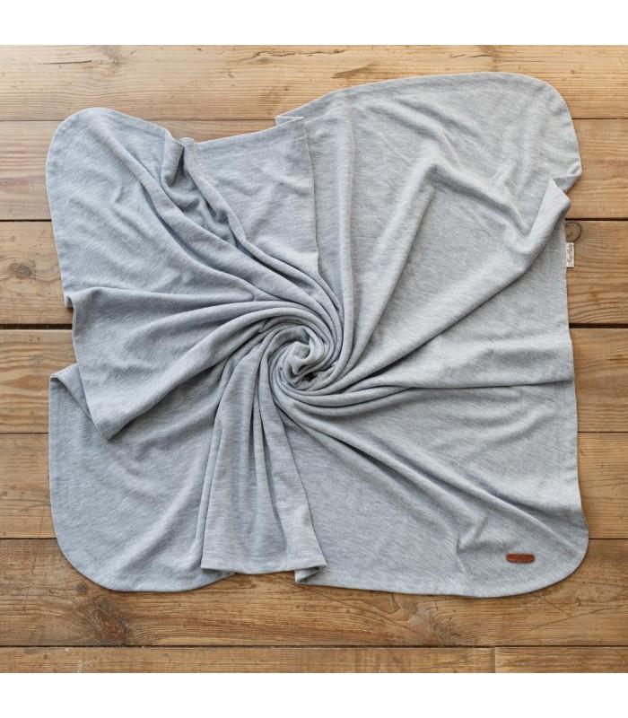Плед для новорожденного серый трикотаж