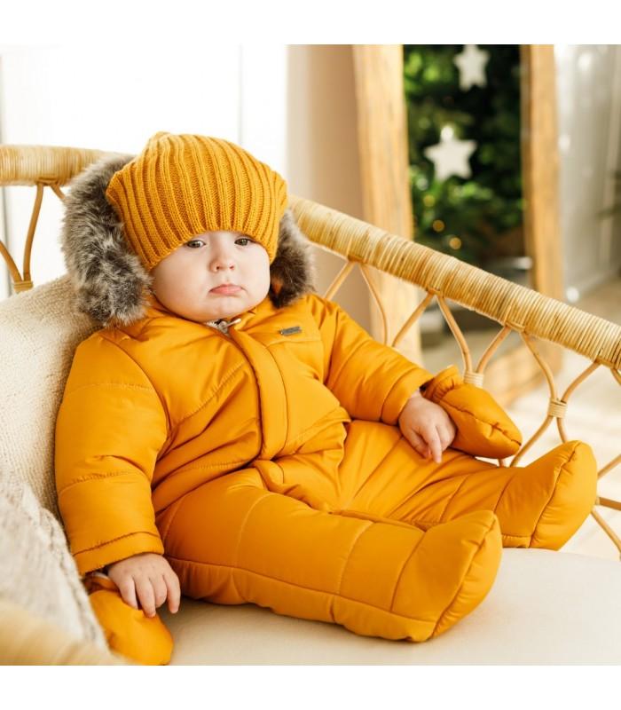 Зимний комбинезон аляска горчичный